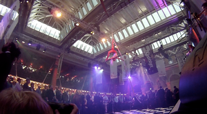 Aerial Rope act at London Bierfest 2015