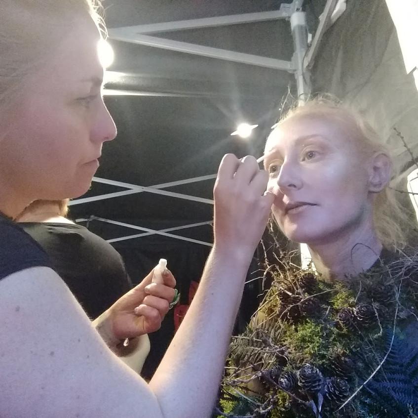 Aerialist in Makeup