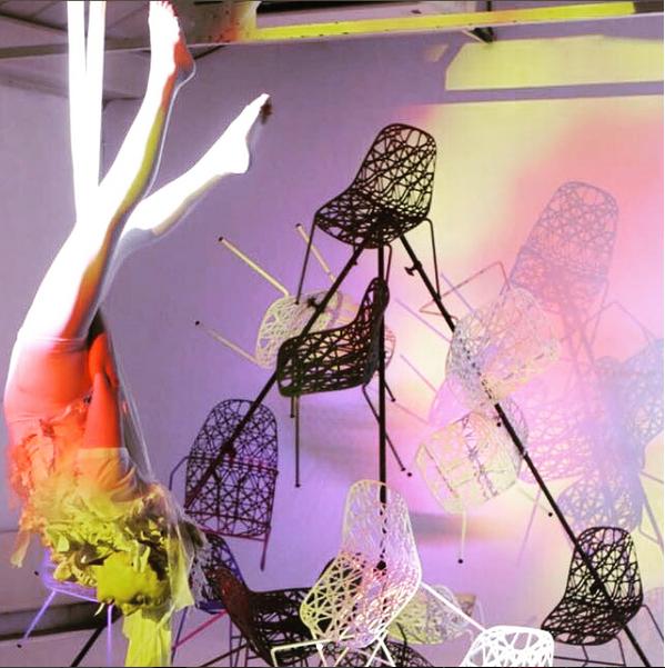 Aerial Silks performance by Katie Hardwick in London