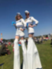 Sailor Stilt Walkers at Meraki Festival