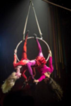 Starfiz performing aerial hoop with Petersham Road
