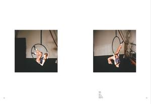 Katie Hardwick modelling for Die Dame on aerial hoop