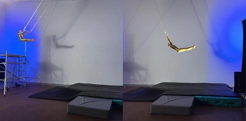 Science of Stupid trapeze stunt