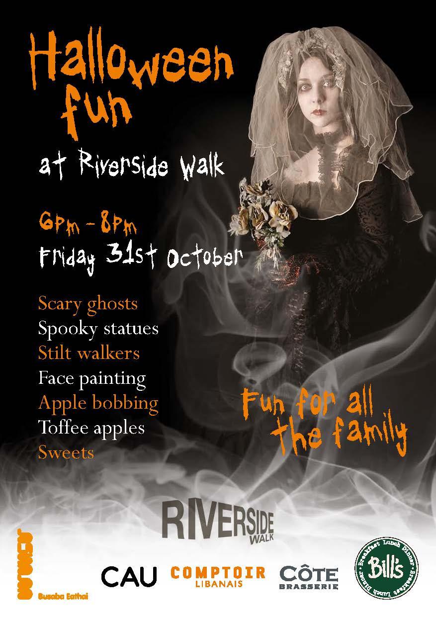 Riverside Walk Halloween Poster