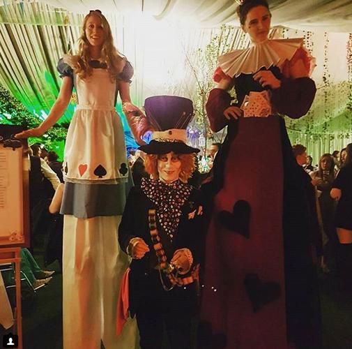 Alice, Hatter & Queen of Hearts
