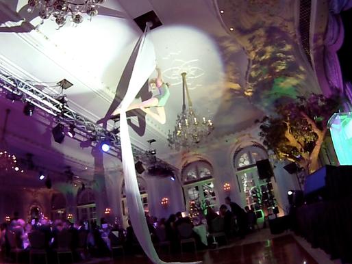 Ethereal Silks Act at the Macmillan Enchanted Ball 2014