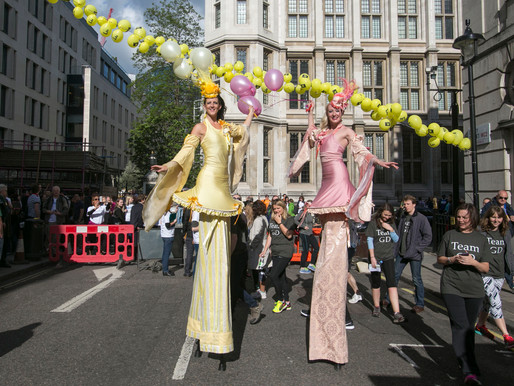 New Stilt Costumes for London Legal Walk