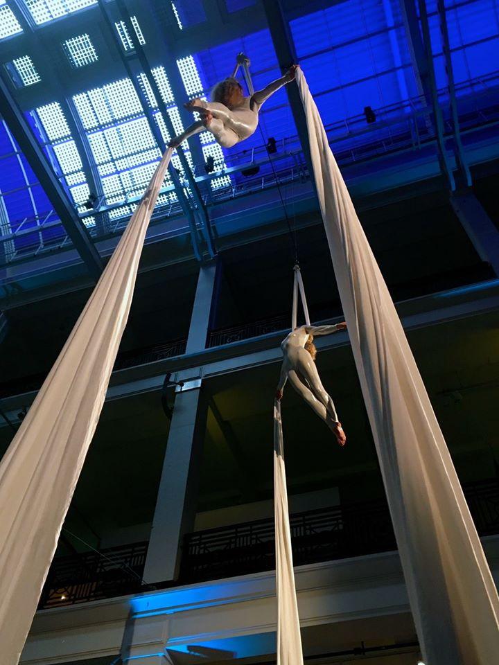 Viva Aerial Dance silks act Science Museum 2016