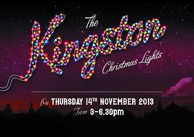Kingston Christmas Lights Poster