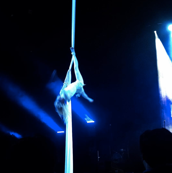 Silks drop to one ankle by Katie Hardwick