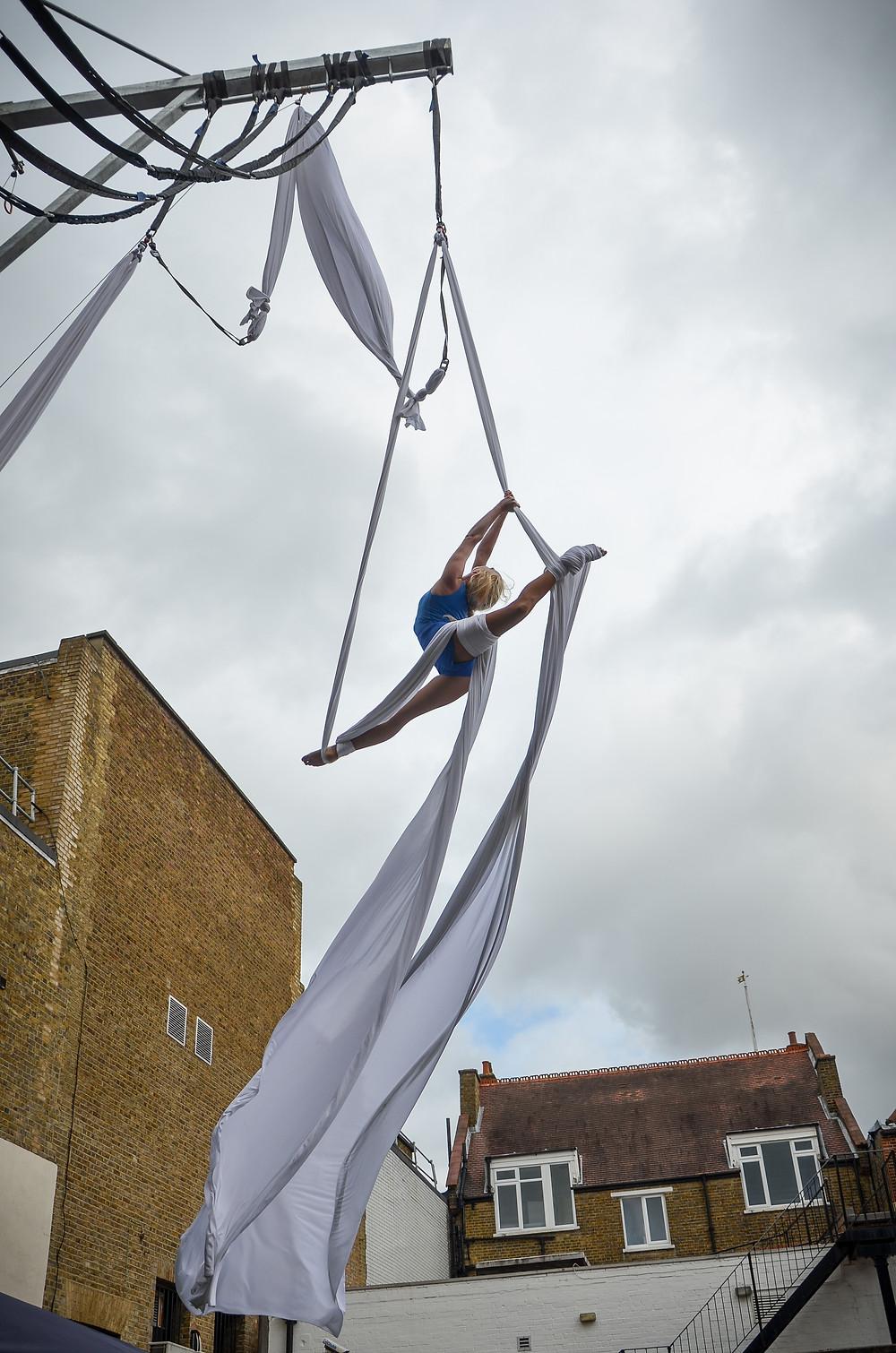 Katie Hardwick aerial acrobat Kingston Circus Suburbia