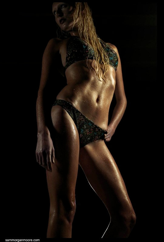 Fitness model in bikini