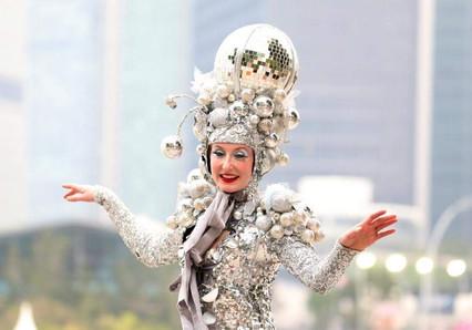 Silver Glitter Belle