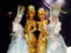 Christmas Winter Stilt Walkers by World of Coco