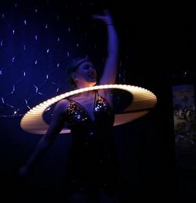 LED Hula Hoop 1920s Theme