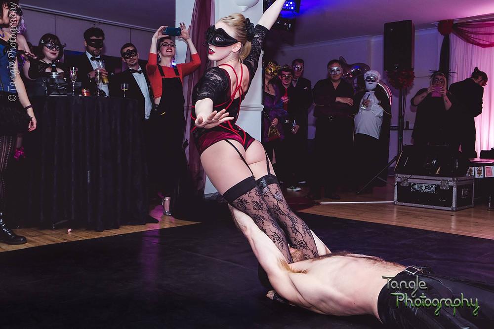 Bitter and Twisted Burlesque Bondage Acrobatics Act