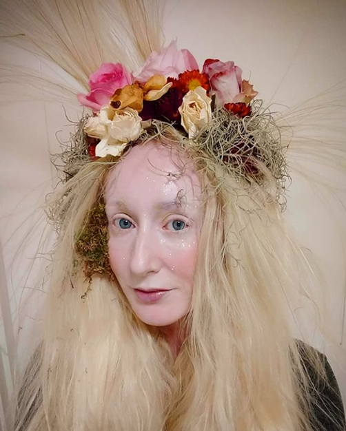 Mother Earth hair and makeup by Samantha Norman on Katie Hardwick