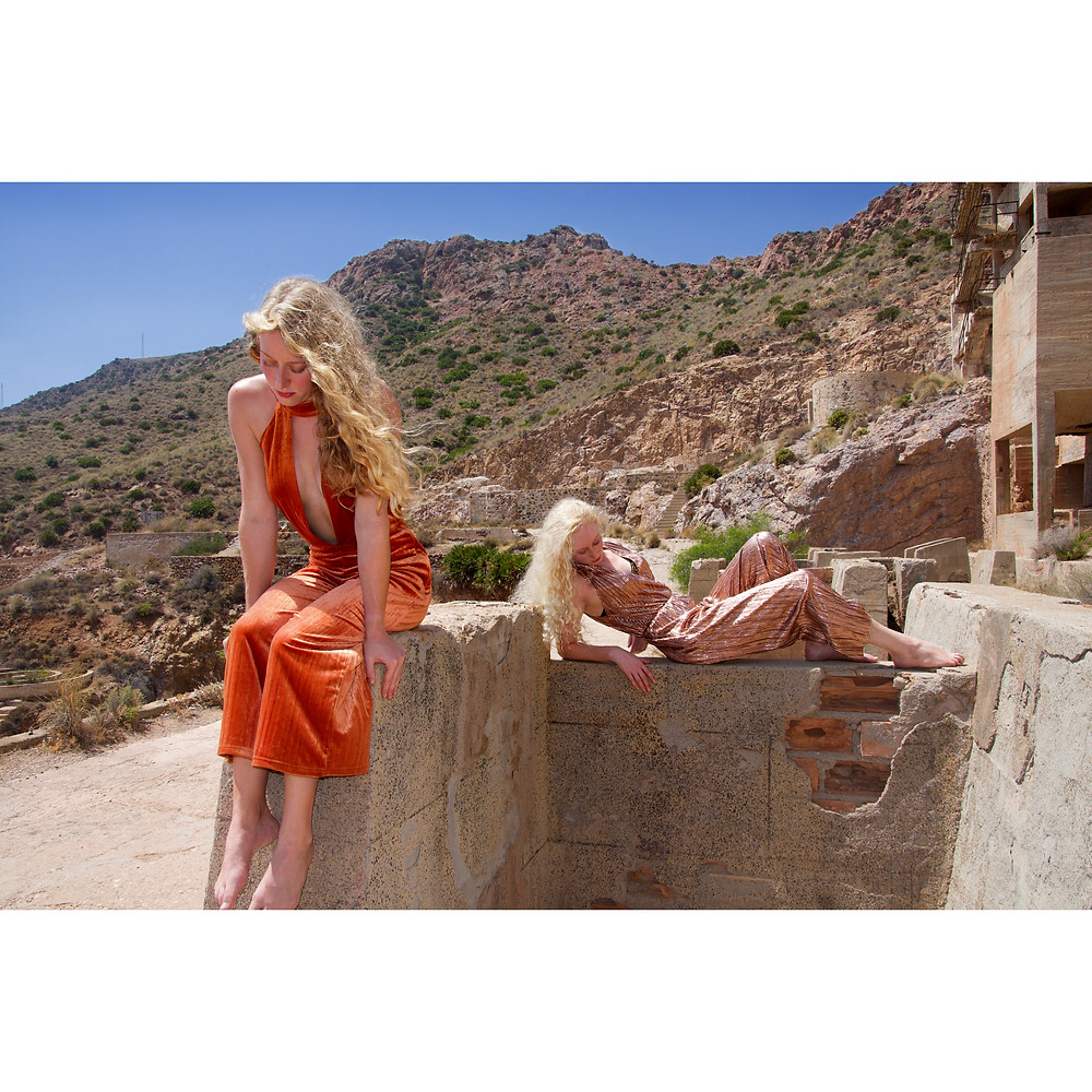 Gold Rush by Rosie Hardwick models Maddy and Katie Hardwick