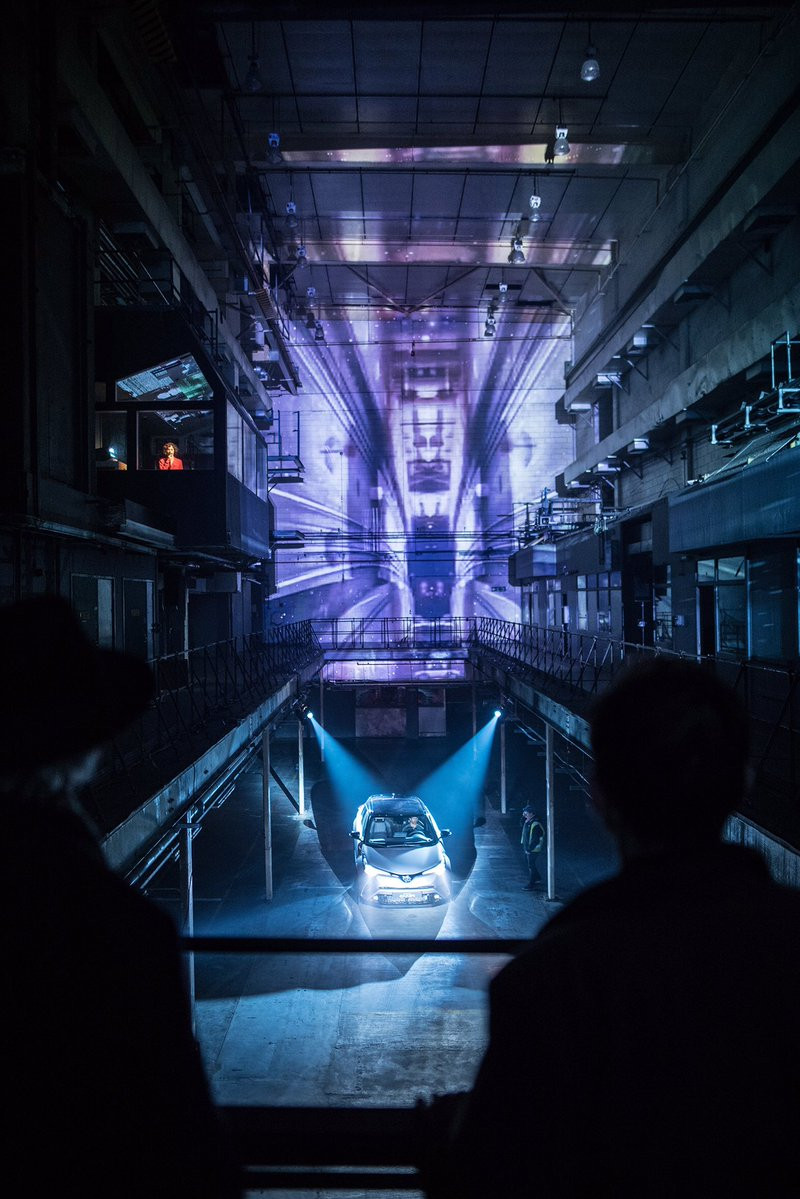 Toyota car launch projection at The Printworks London