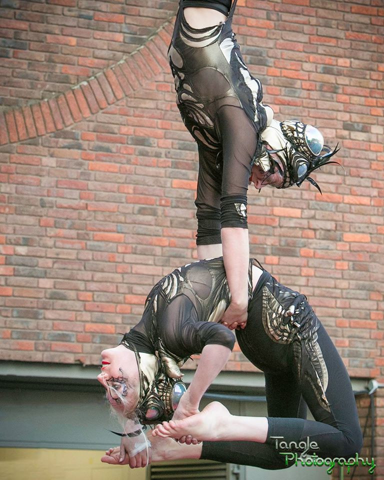 Halloween Doubles Trapeze Act