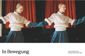 Katie Hardwick modelling in Die Dame Magazine Issue 5