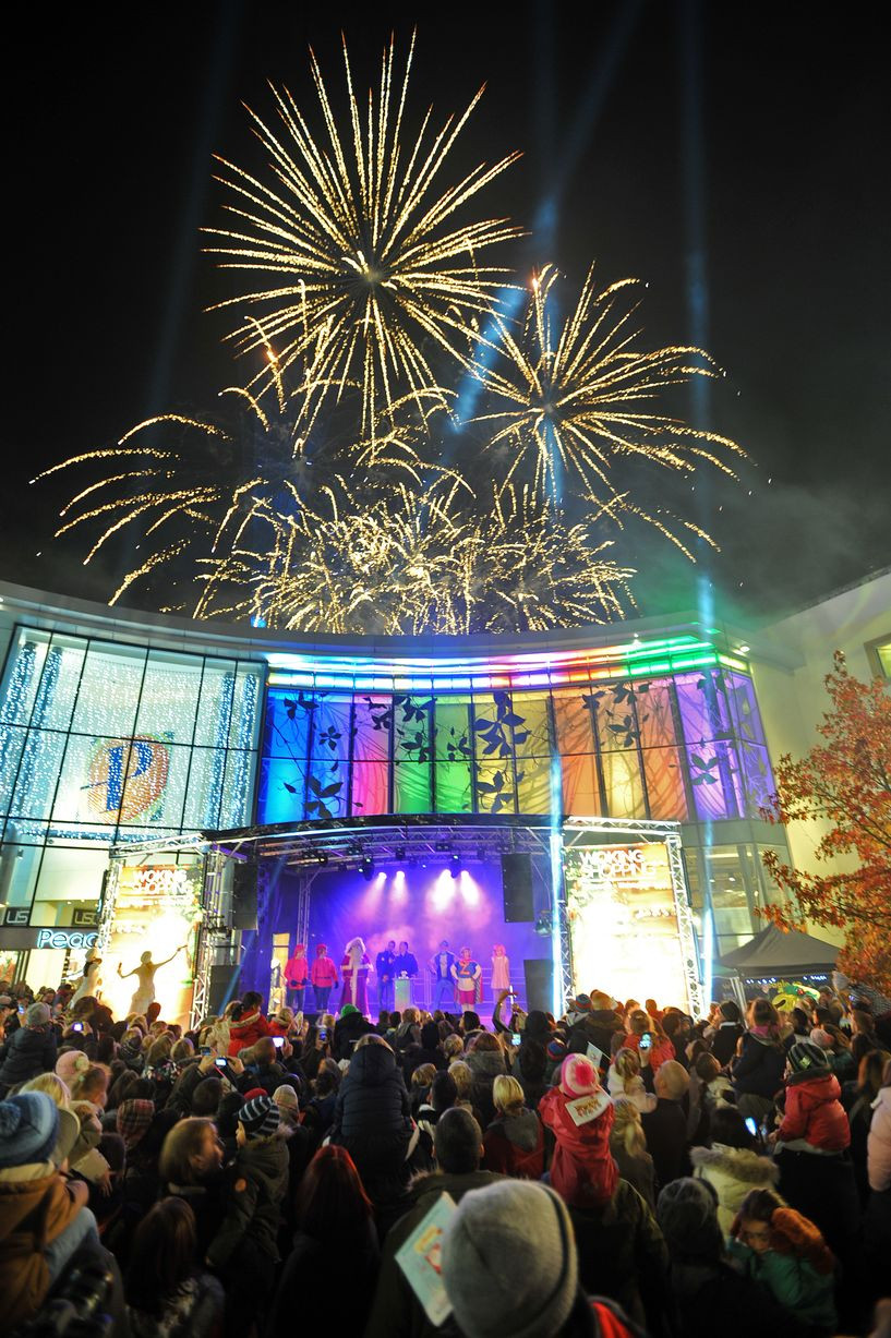 Woking Christmas Lights Fireworks
