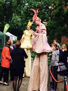 Circus Ladies at MacMillan Tug of War Fundraiser