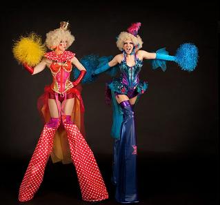 Circus Stilt Characters