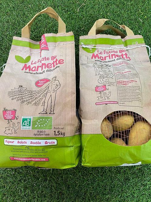 pomme de terre BIO Marinette (le sachet de 1,5 kg)