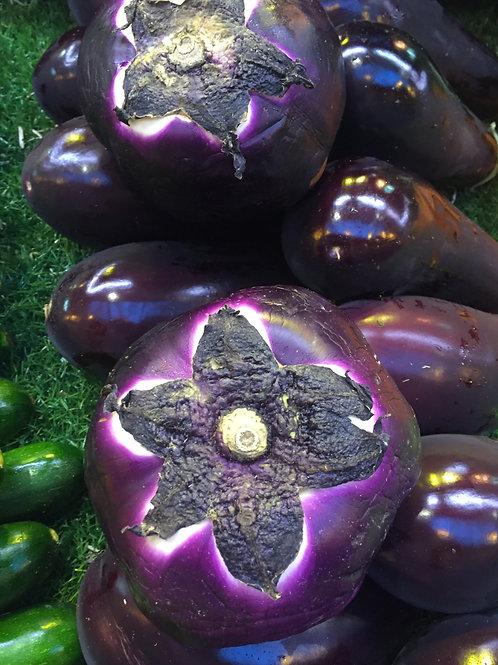 aubergine ronde (le kg)