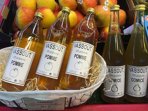 jus de pomme (la bouteille)