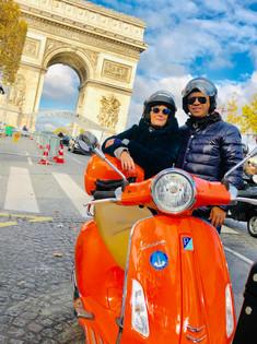 Arc de Triomphe during Scooter Tour