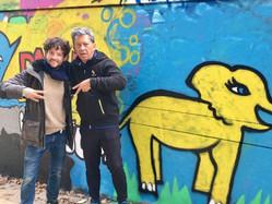 Thibault and Ken - Graffiti Workshop