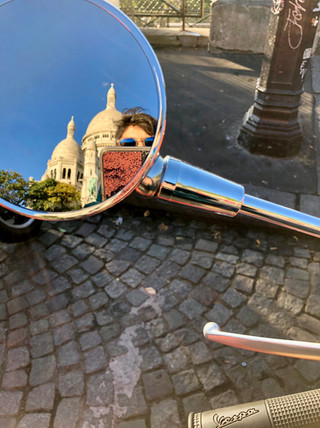 Vespa at Sacre Coeur