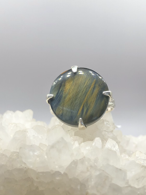 Sterling Silver Pietersite Ring Size 8.5