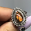 Thumbnail: Sterling silver Ammolite ring size 8
