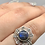 Thumbnail: Sterling Silver Labradorite Ring Size 9