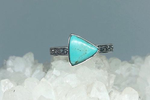 Nevada Aztec Turquoise Ring Size 7