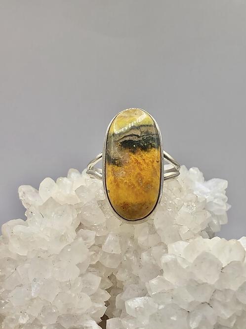 Bumblebee Jasper Ring Size 10