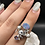 Thumbnail: Sterling  Silver Australian Doublet Opal Ring Size 7.5