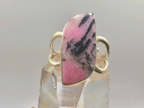 Sterling Silver Rhodonite Ring Size 8.5