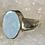 Thumbnail: Sterling Silver Australian Opal Ring Size 8