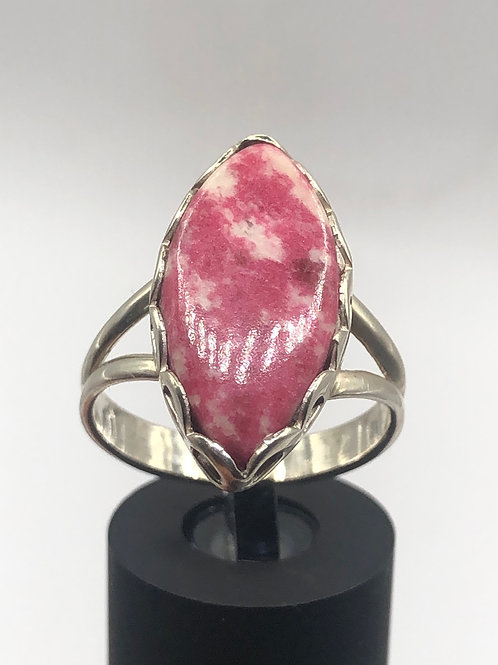 Sterling Silver Thulite Ring Size 9
