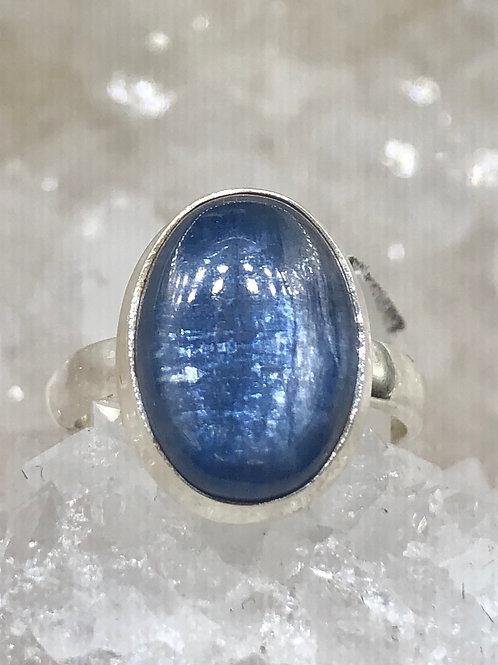 Sterling Silver Kyanite Ring Size 6