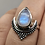 Thumbnail: Sterling Silver Moonstone Ring Size 6