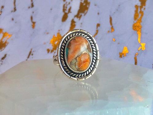 Spiny Oyster Arizona Turquoise ring size 8