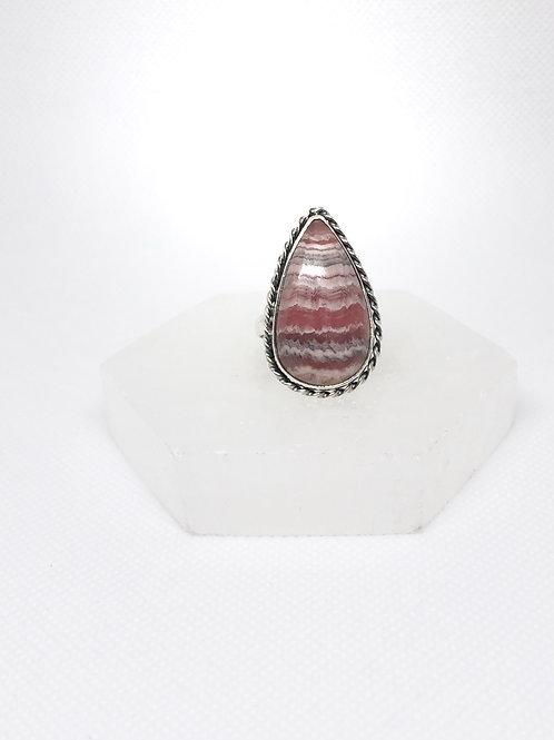 Rhodochrosite ring size 9