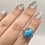 Thumbnail: Sterling Silver Persian Turquoise Ring Size 7