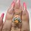 Thumbnail: Sterling Silver Spiny Oyster Arizona Turquoise Ring Size 6.5