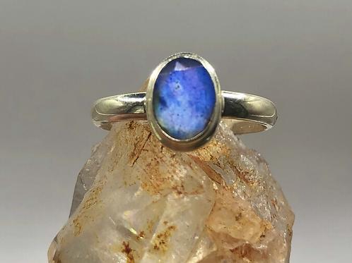 Sterling Silver Labradorite Ring Size 8
